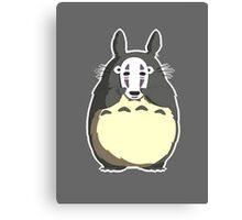 Totoro x No Face - My Neighbor Totoro x Spirited Away Canvas Print