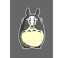 Totoro x No Face - My Neighbor Totoro x Spirited Away Photographic Print