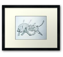 Hunted Lion Framed Print