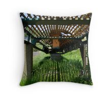 A derelict Currach in Co. Kerry, Ireland Throw Pillow