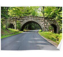 'Stone Bridge, Acadia Park' Poster