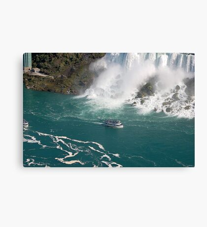 Niagara water foam Canvas Print