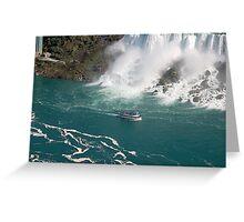 Niagara water foam Greeting Card