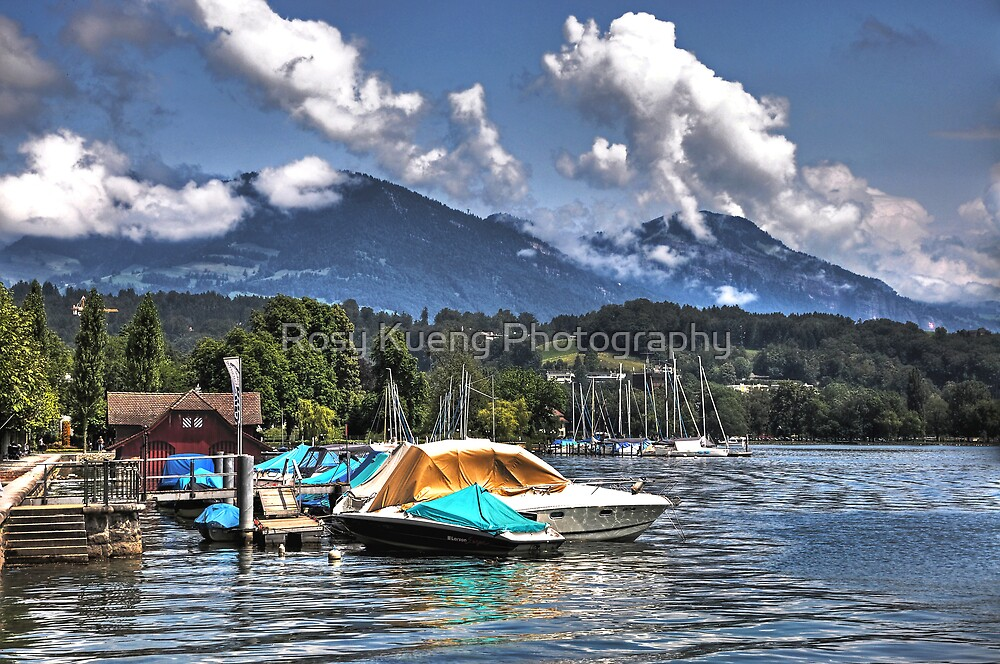 Lake shores of Lucerne by Rosy Kueng