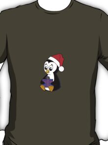 Baby Penguin with a Christmas Gift T-Shirt