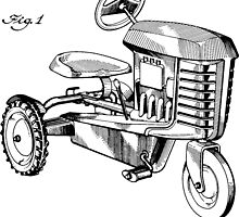 Toy Tractor Patent Drawing by Edward Fielding