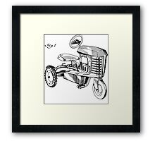 Toy Tractor Patent Drawing Framed Print