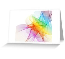 Abstract Colorful Lines Background  Greeting Card