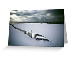 Vanishing Fence Greeting Card