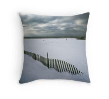 Vanishing Fence Throw Pillow