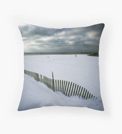 Vanishing Fence Throw Pillow