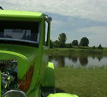 "1926 Lime Green Ford Custom Hot Rod, ""Green on Green on Green"" by TeeMack"
