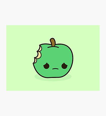 Cute sad apple Photographic Print