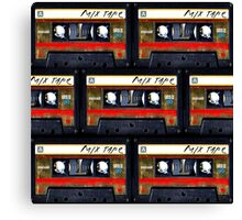 Retro cassette mix tape Canvas Print
