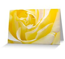 Inside Yellow Rose Greeting Card