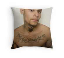 Jay with new skull tattoo Throw Pillow