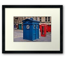Police imformation box. Edinburgh. Framed Print