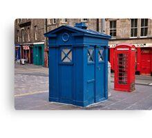 Police imformation box. Edinburgh. Canvas Print