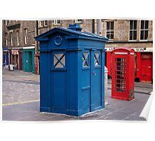 Police imformation box. Edinburgh. Poster
