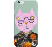 Pink Cat with Wool Overload iPhone Case/Skin
