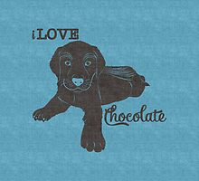 I Love Chocolate Labrador Puppy by Doreen Erhardt