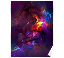 In another life- colorful digital abstract art  Poster