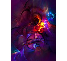 In another life- colorful digital abstract art  Photographic Print
