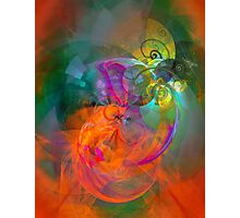 Indian Summer- colorful digital abstract art by Gordan P. Junior Photographic Print