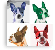 Quintet - Boston Terrier Canvas Print