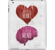 Open Heart, Open Mind iPad Case/Skin