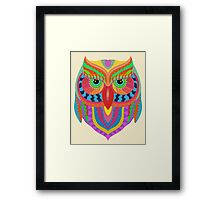 Awesome Owl Pattern 2 Framed Print