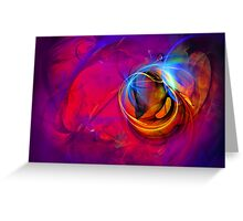 Jerry the Horse- colorful digital abstract art  Greeting Card
