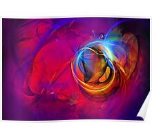 Jerry the Horse- colorful digital abstract art  Poster