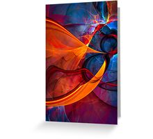 Infinity- colorful digital abstract  Greeting Card