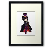 Cartoon Vampire Framed Print