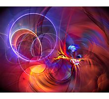 Late Flight  - colorful digital abstract art  Photographic Print