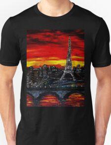 Red Sky over Paris T-Shirt