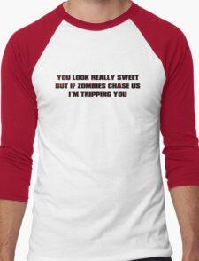 If Zombies Chase Us Men's Baseball ¾ T-Shirt