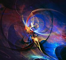 Journey of the soul - colorful digital abstract art  by gp-art