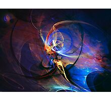 Journey of the soul - colorful digital abstract art  Photographic Print