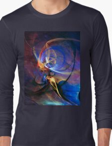 Journey of the soul - colorful digital abstract art  Long Sleeve T-Shirt