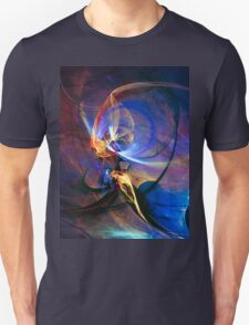 Journey of the soul - colorful digital abstract art  T-Shirt