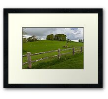 Rustic wooden fence Framed Print