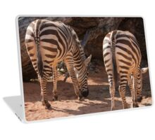 zebra in the forest Laptop Skin