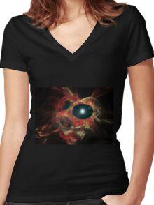 Eye of God Women's Fitted V-Neck T-Shirt