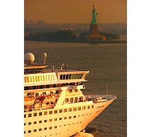 NORWEGIAN CROWN ENTERING NY HARBOUR @ SUNRISE Photographic Print