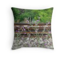 Life On Track Throw Pillow