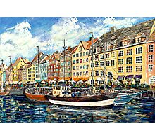 Old port of nyhavn Photographic Print