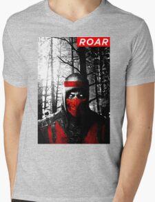 Roar Injustice Mens V-Neck T-Shirt