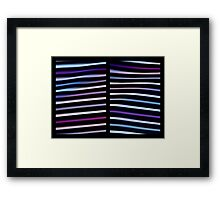 Stripes in Motion - Diptych Framed Print